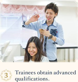 Trainees obtain advanced qualifications.